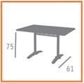 medidas mesa rectangular